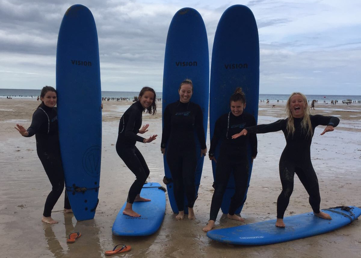 Base Surf School on Fistral Beach... learn to surf Newquay